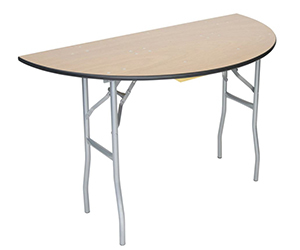 Half-Round Wood Folding Tables