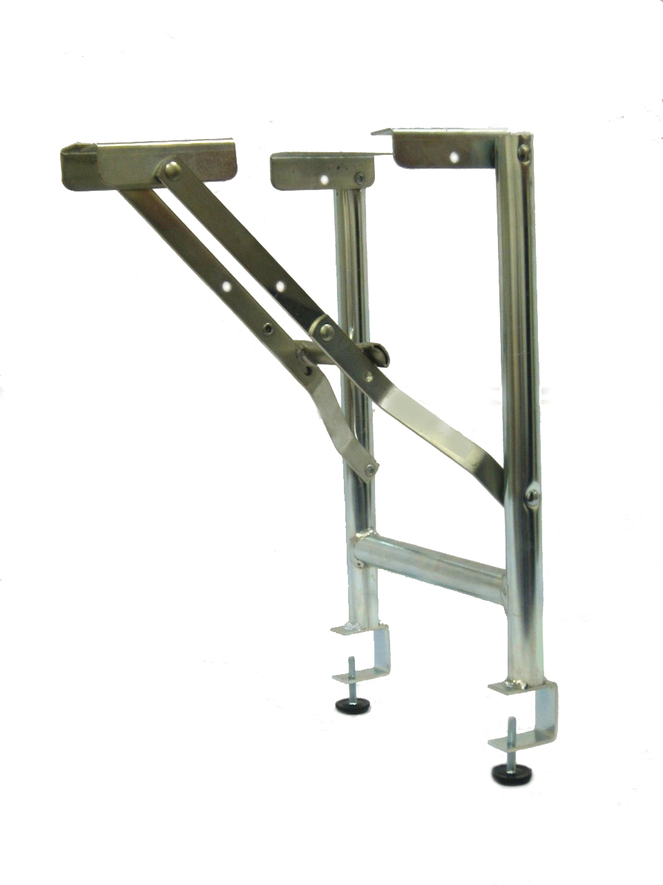 15 Wide Replacement Steel Folding Bar Riser Legs With 1 1 2 Table Top Clamp 2 Pack
