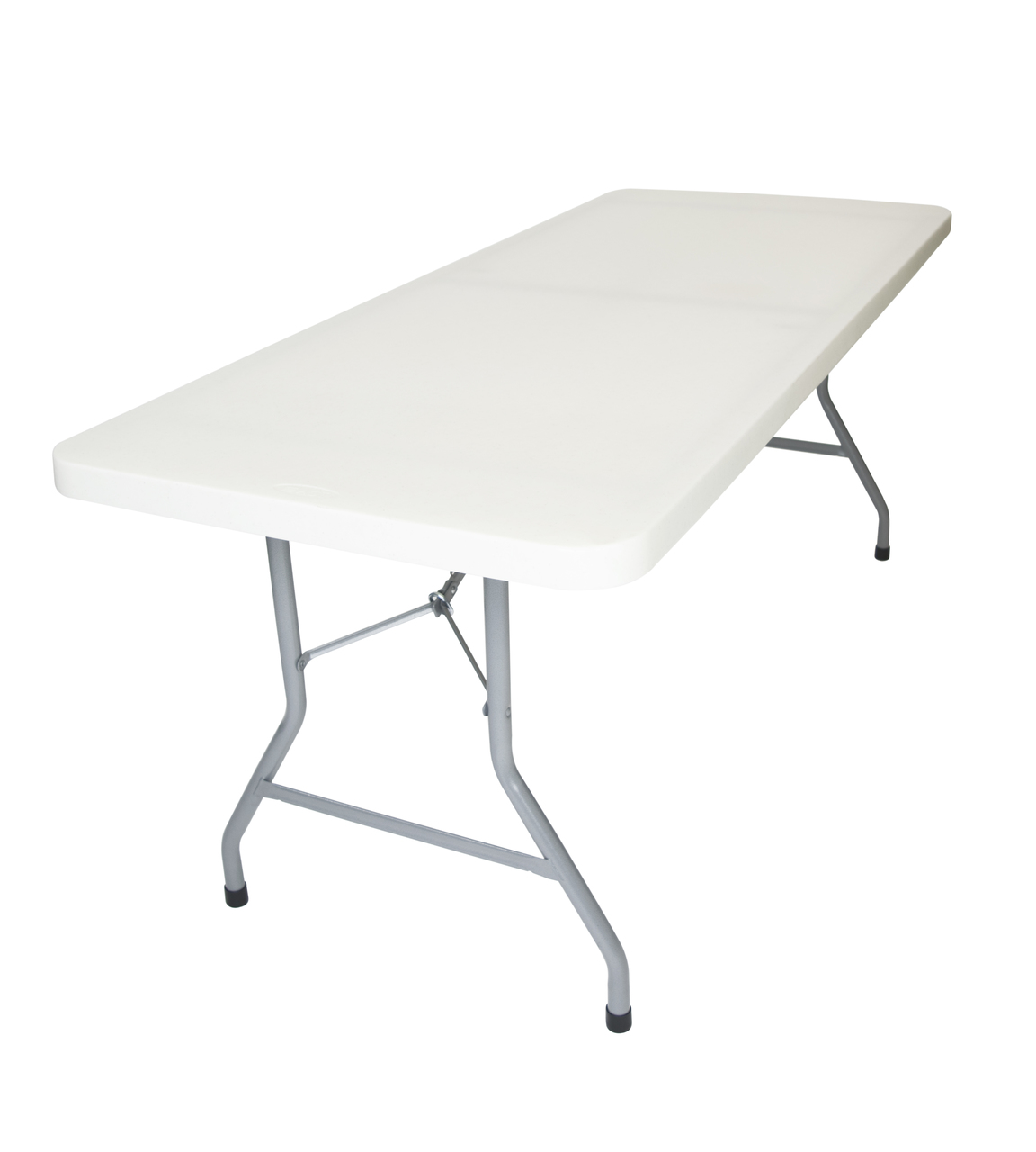 Rhinolite 30 X72 6 Ft Rectangle Plastic Folding Table Solid One Piece Top Locking Steel Frame