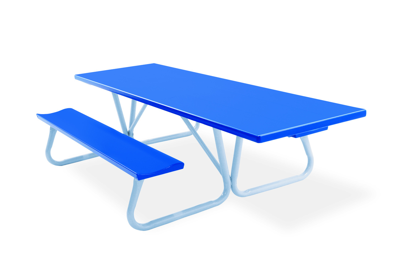 Remarkable Southern Piknik 30 X 96 Handicapped Accessible Deluxe Aluminum Picnic Table 64 Width Bench To Bench Onthecornerstone Fun Painted Chair Ideas Images Onthecornerstoneorg