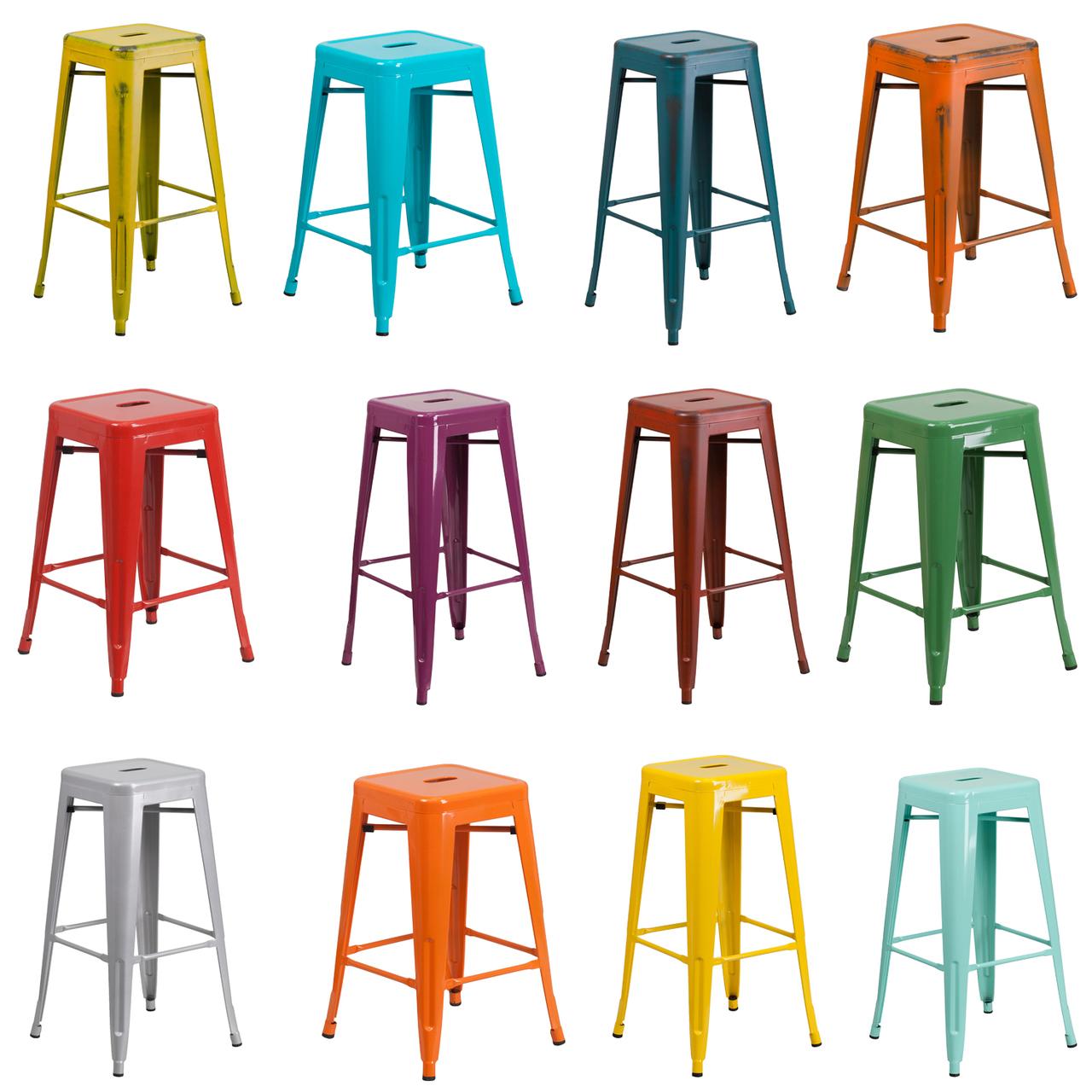 Awe Inspiring Indoor Outdoor Metal Backless Stool Creativecarmelina Interior Chair Design Creativecarmelinacom