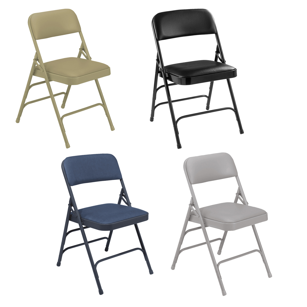 Admirable Body Builder Vinyl Padded Folding Chair By National Public Seating 1300 Series Pabps2019 Chair Design Images Pabps2019Com