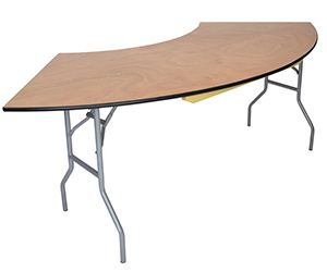Serpentine Wood Folding Tables