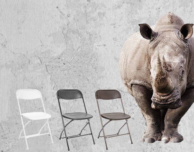 Rhino Plastic Folding Chairs