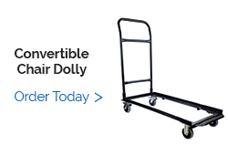 Convertible Flat Stack Storage and Transport Dolly for Folding Chairs