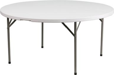 Rhinolite 60 5 Ft Round Plastic Folding Table Locking Steel Frame Foldingchairsandtables Com
