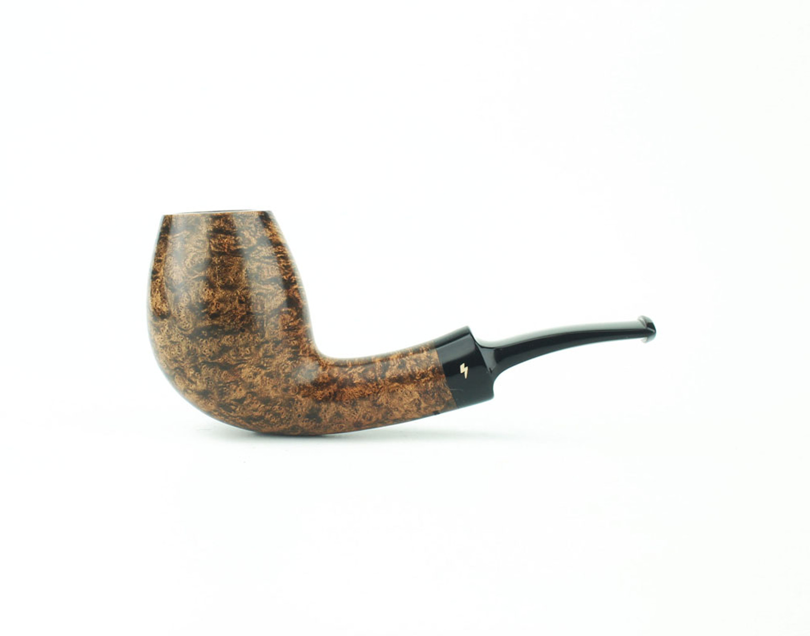 MS05DS B - Moonshine Bent Egg - Dark Contrast Smooth w/ Black Stem