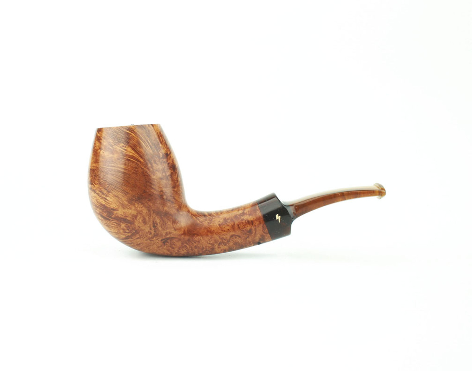 MS05LS T - Moonshine Bent Egg - Light Contrast Smooth w/ Tortoise Stem