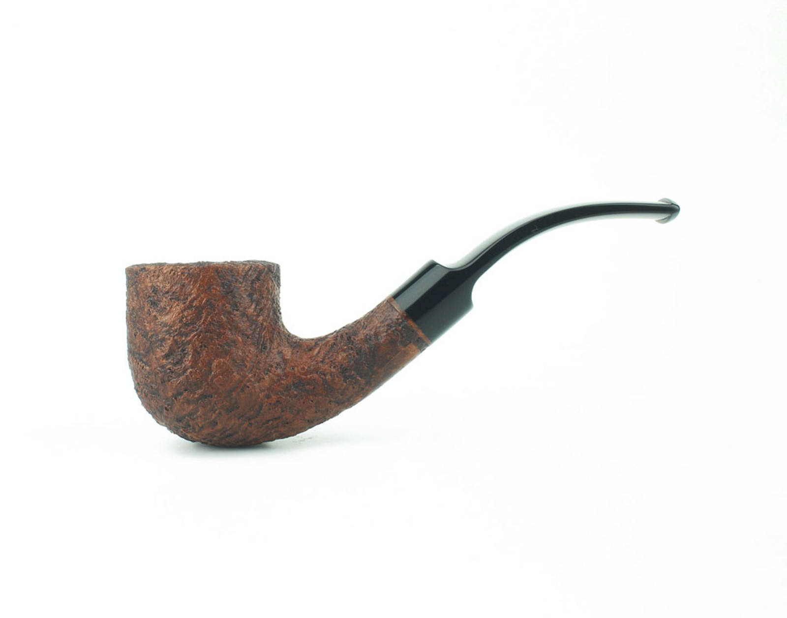 C131FBB B (9mm) - BriarWorks Classic C131F Bent Pot - Brown Blast w/ Black Stem