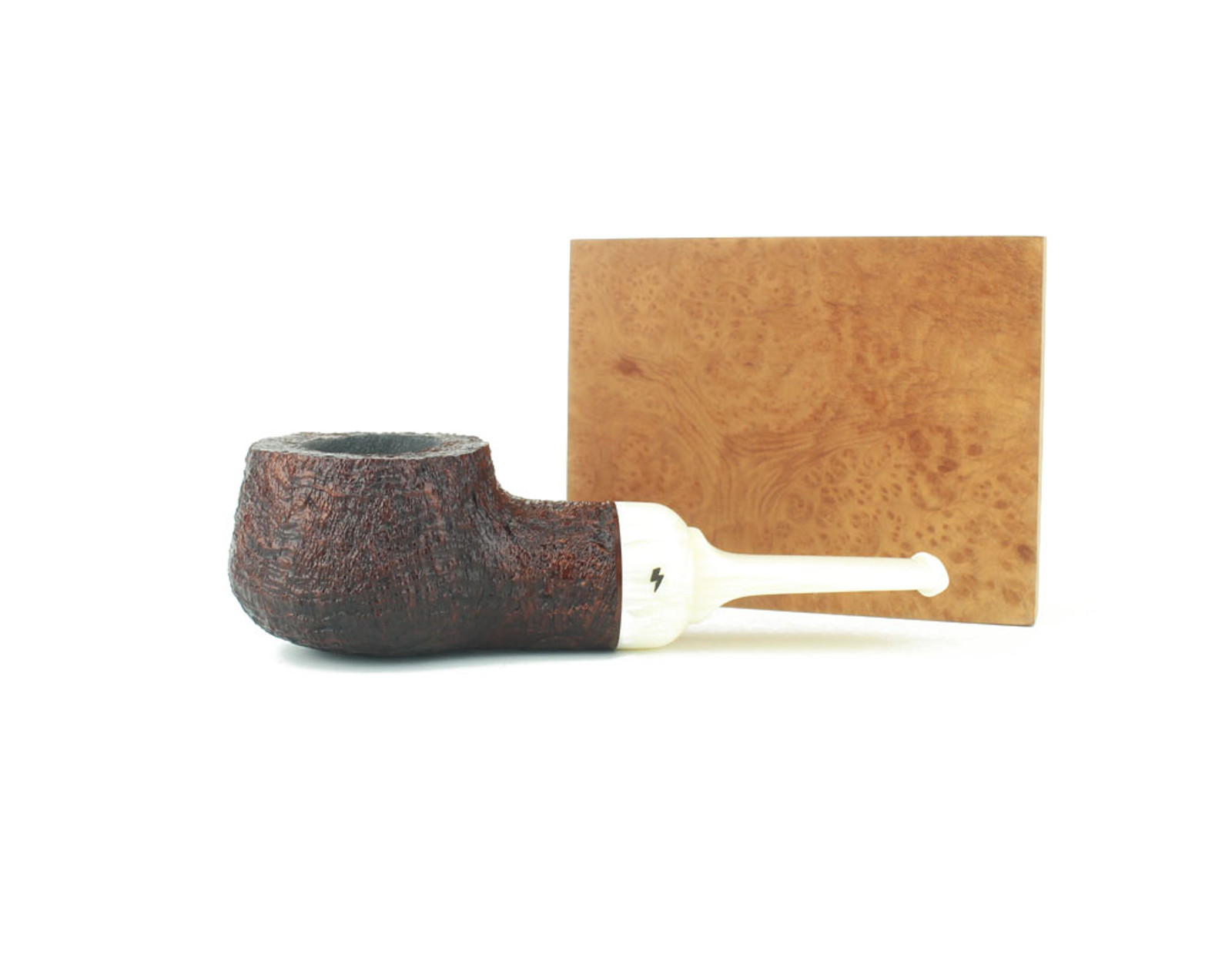 MS08BB W - Moonshine Pot Still - Leather Blast w/ White Stem