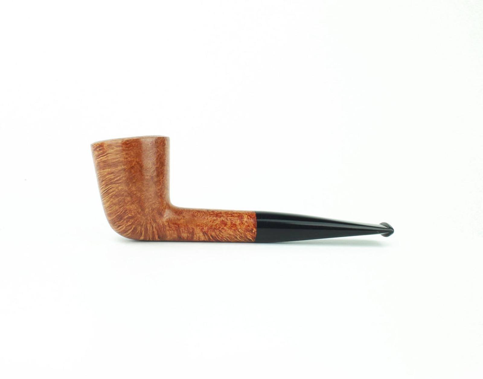C61LS B - BriarWorks Classic C61 Straight Dublin - Light Smooth w/ Black Stem
