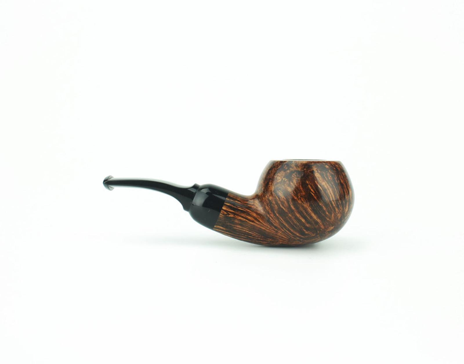 OR01DS B - BriarWorks Original OR01 Stubby Apple - Dark Smooth w/ Black Stem