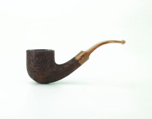 C131BB C - BriarWorks Classic C131 Bent Pot - Brown Blast w/ Coffee Stem