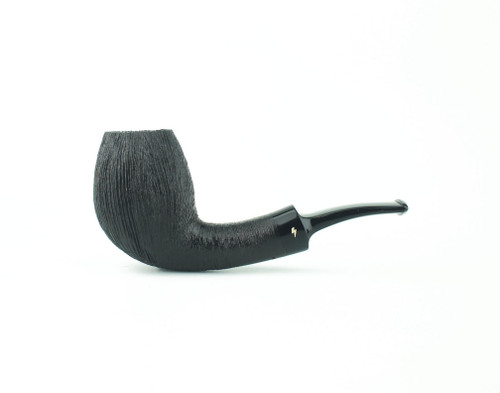MS05DR B - Moonshine Bent Egg - Wire Rusticated w/ Black Stem