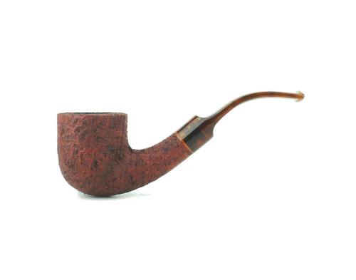 C131CB T - BriarWorks Classic C131 Bent Pot - Crimson Blast w/ Tortoise Stem