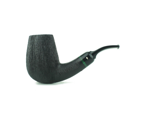 MS11DR B - Moonshine Smokestack 2021 Pipe of the Year - Wire Rusticated w/ Black Stem