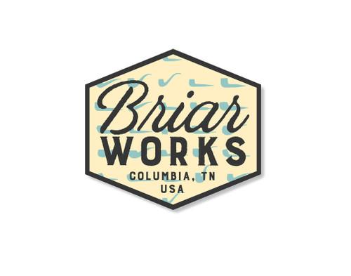 BriarWorks Pipes Logo Sticker
