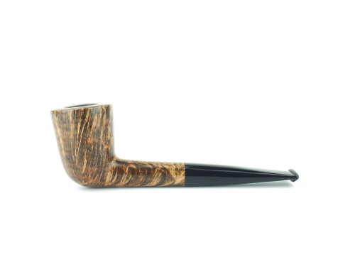 C61DS B - BriarWorks Classic C61 Straight Dublin - Dark Smooth w/ Black Stem