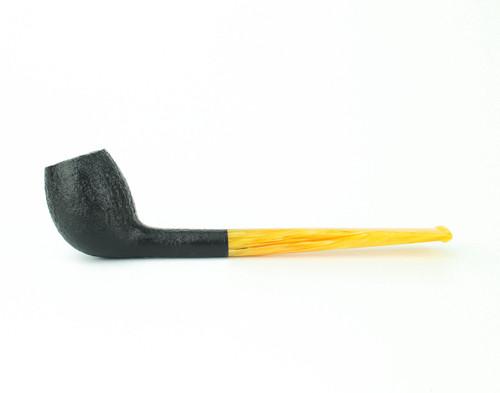 C142DB A - BriarWorks Classic C142 Belge - Dark Blast w/ Amber Stem