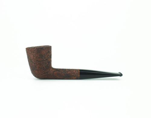 C61BB B - BriarWorks Classic C61 Straight Dublin - Brown Blast w/ Black Stem