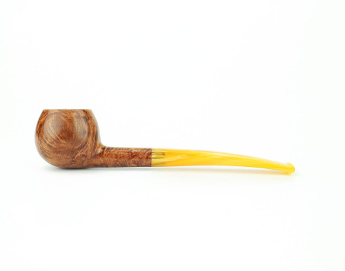 C121LS A - BriarWorks Classic C121 Prince - Light Smooth w/ Amber Stem