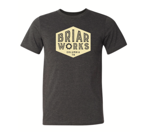 BriarWorks T-Shirt Grey Columbia Logo