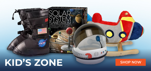 moon boots, solar system planetarium, space helmet, and spaceship rocking chair for kids