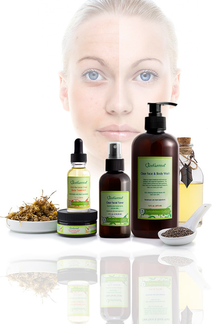 Just Nutritive Clear Skin Essentials Kit - Acne Skin Care
