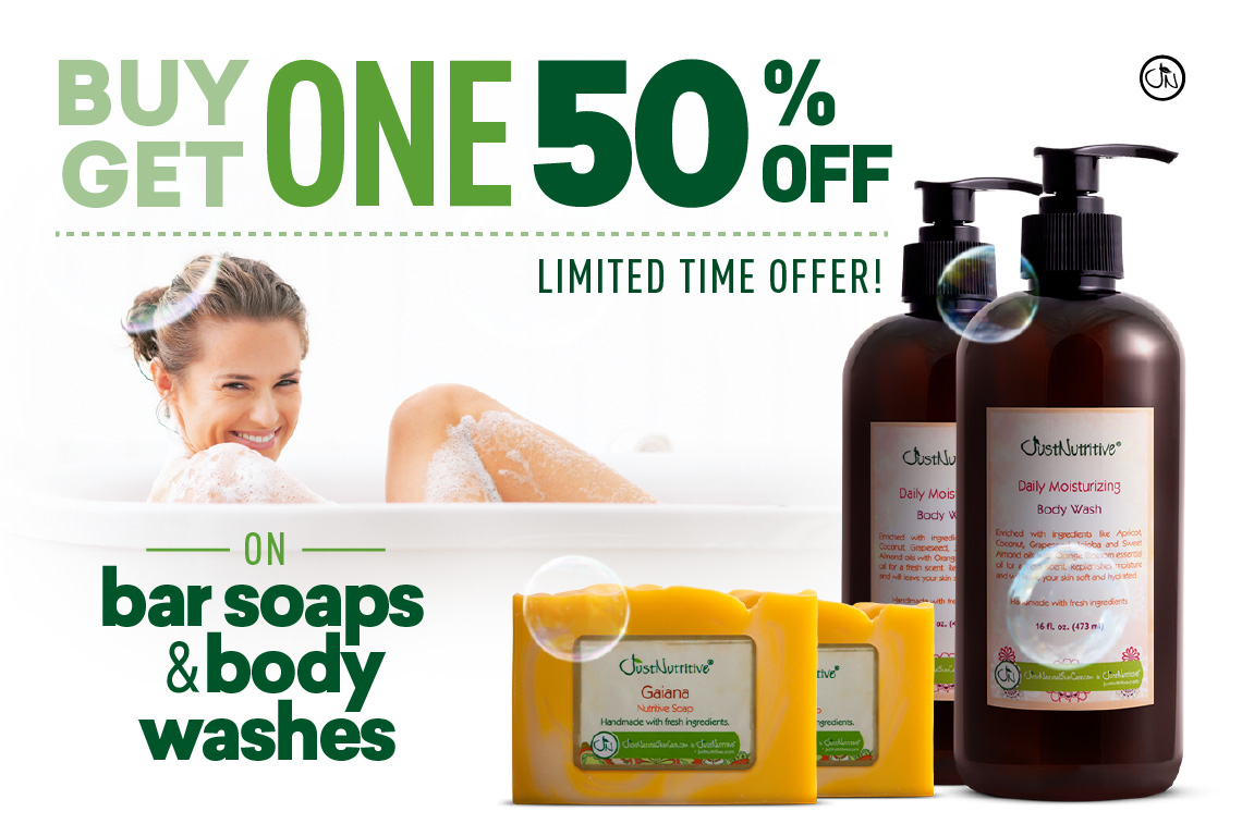 BOGO 50% Off Soaps and Washes