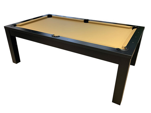 Abbey Pool Table with Dining Top Matte Black