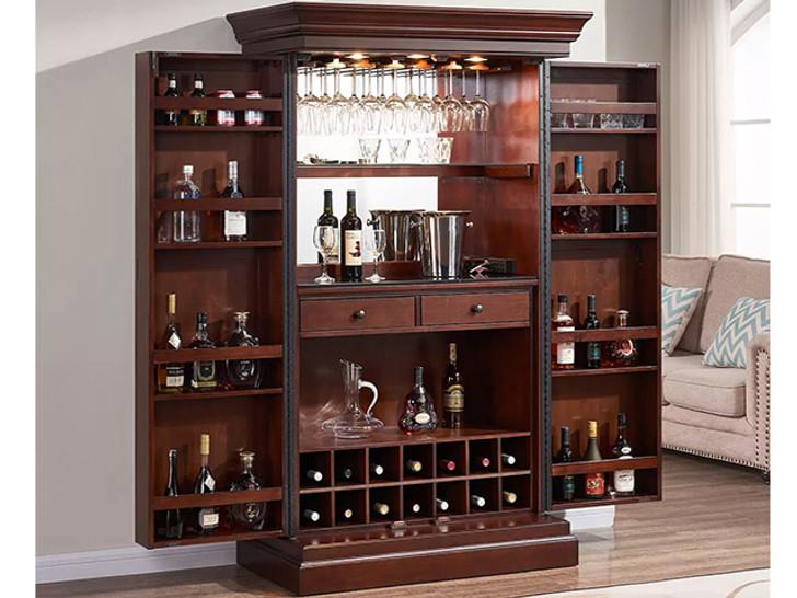 Ashton Wine & Spirit Cabinet in Brown