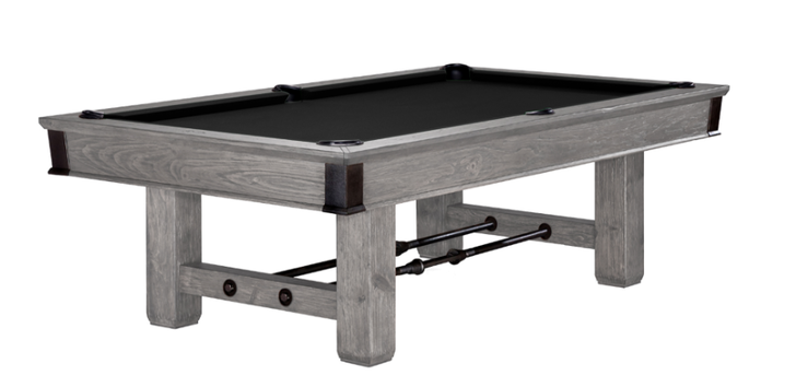 Canton Pool Table Rustic Gray