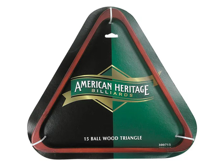 15-Ball Wood Triangle