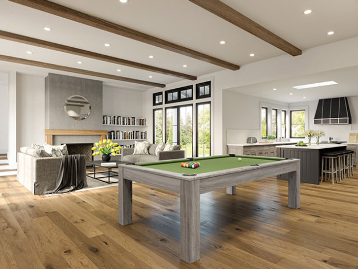 Penelope II Pool Table with Dining Top Silver Mist