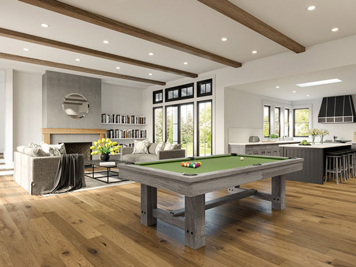 Reno Pool Table Silver Mist