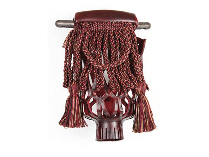 Leather Fringe Pocket Mahogany