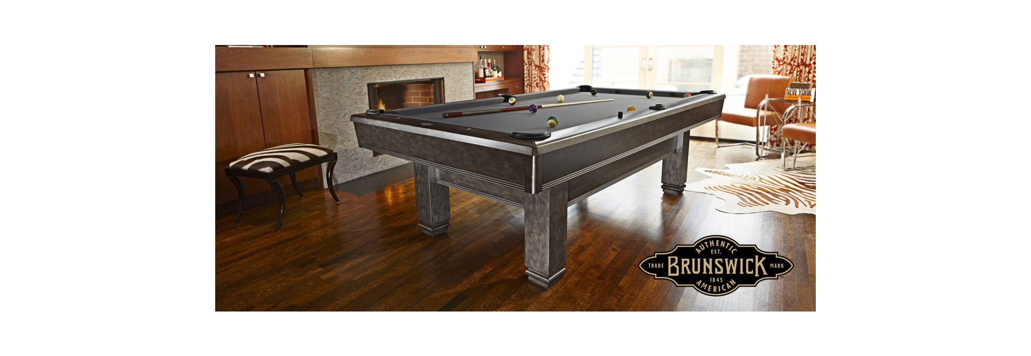 NOW OFFERING BRUNSWICK BILLIARDS
