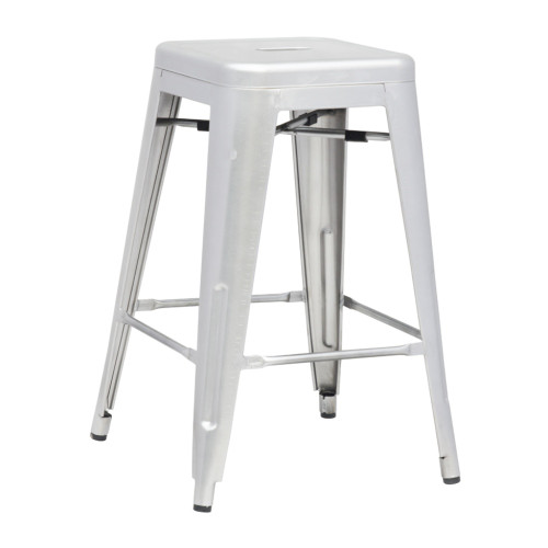 Fine Mod Imports Talix Counter Stool, Silver