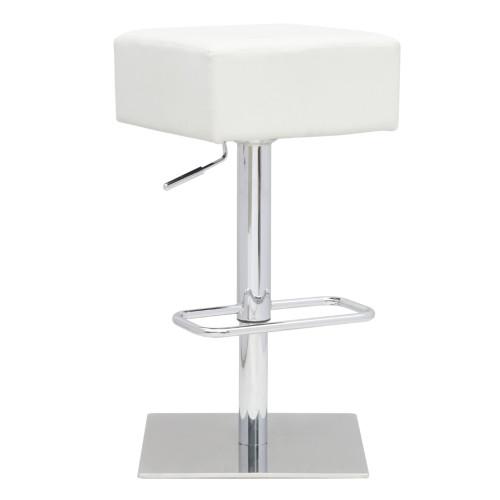 Fine Mod Imports Marshmallow Bar Stool, White