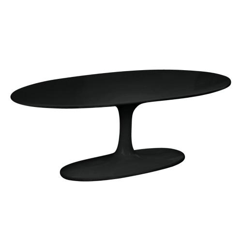 Tulip Coffee Table Oval Fiberglass, Black