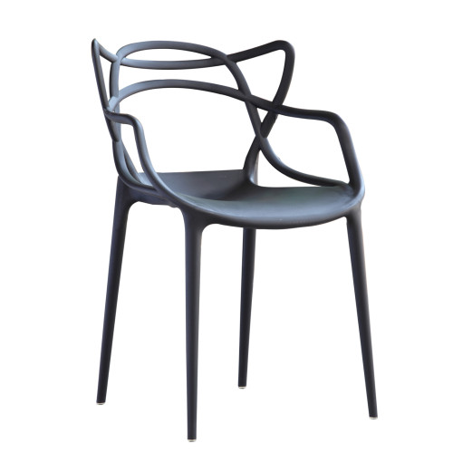 Master Dining Chair, Black Set of 2