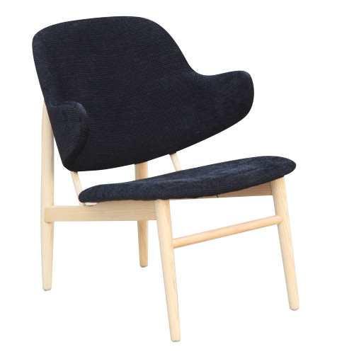 Fine Mod Imports Atel Lounge Chair, Black