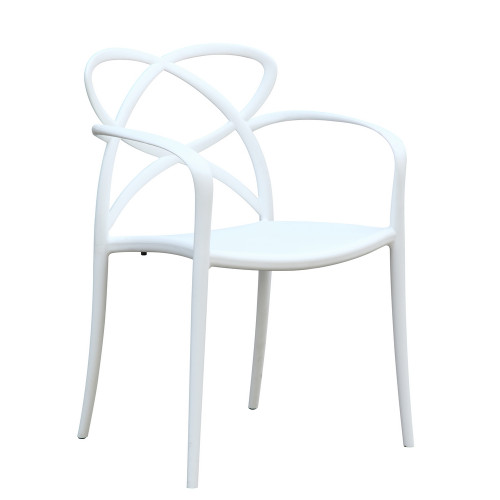Master Script Dining Chair, White Set of 2