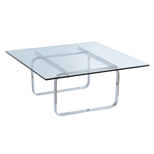 Fine Mod Imports Hans Coffee Table, Glass