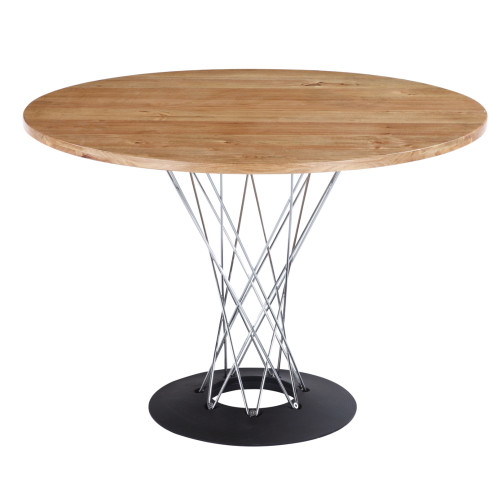 """Sort Cyclone Dining Table 60"""" Top, Natural"""