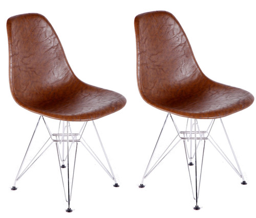 Vincent DSW Dining Chair, Leatherette Set of 2