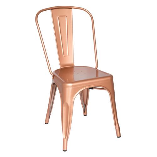 Tolix Chair, Copper Set of 2