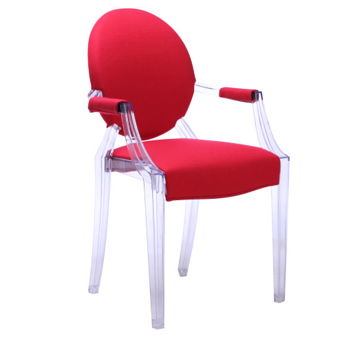 Gus Ghost Arm Chair, Clear, Set of 2