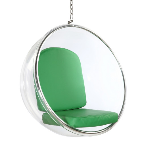 Fine Mod Imports Bubble Hanging Chair, Green