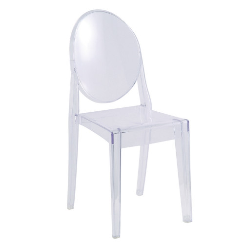 Clear Ghost Side Chair, Clear Set of 2